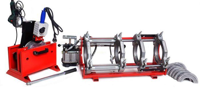 HW160-полумеханика - аппарат для сварки пластиковых труб с ручным гидравлическим насосом